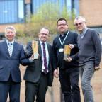 Bradford Telegraph and Argus: From left, Roger Thrush, Simon Duarri, Mark Wrigley and Russell Smith from The Estates Department at the University of Bradford