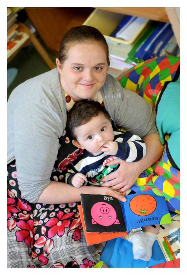 SIX month-old Subhan Mohammed, the 500th baby registered on the Canterbury Imagine book scheme, with his mum, Stacey Butterfield