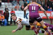 Harry Siejka in action for the Bulls against Batley