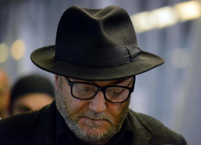 George Galloway as the Bradford West result was announced