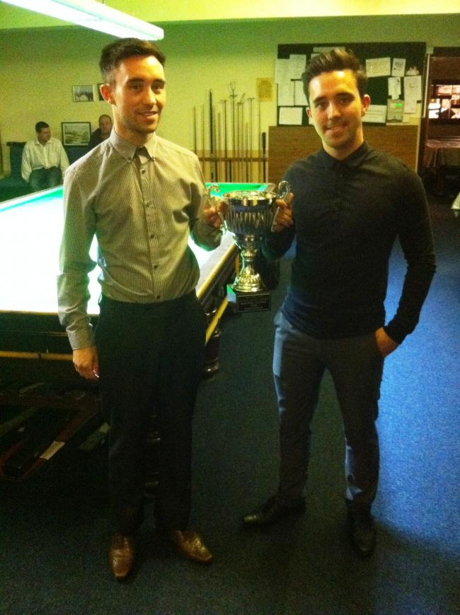 Brothers Gareth, left, and Anthony Green were in sparkling form for Bradford's No 1 snooker team