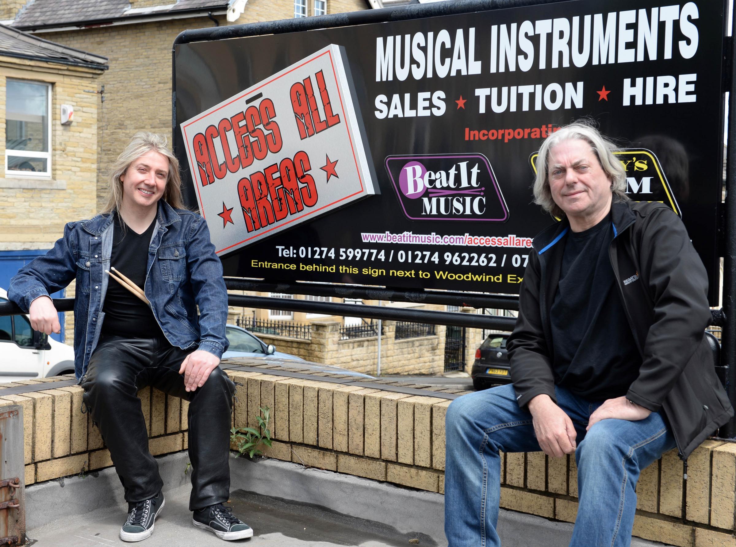 Rolling Stones roadie opens music shop in Bradford