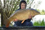Bradford No 1 AA member Caleb Sands shows off his common carp