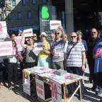 Bradford Telegraph and Argus: Protesting staff at the picket this morning