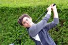 Jack Laybourne (Bingley St Ives), who partnered newcomer Oliver Tasker (Cleckheaton) to a 3&2 victory in their foursomes