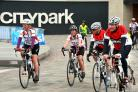 Cyclists taking part in last year's Bradford Skyride