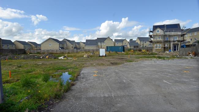 The site of the planned homes in Long Lane, Queensbury