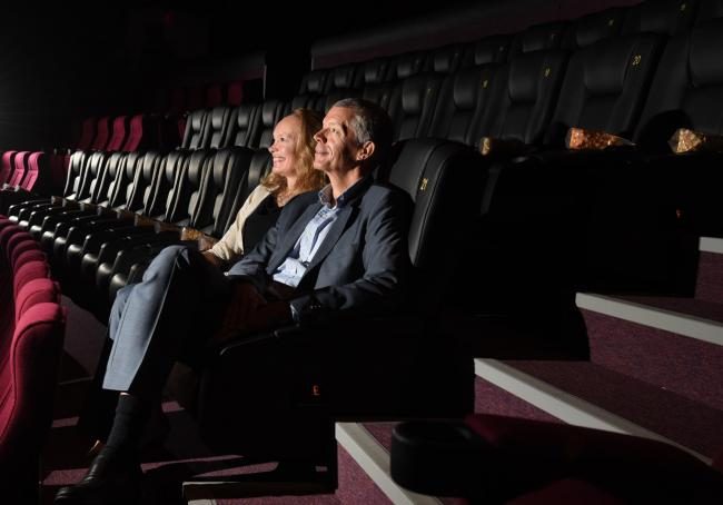 Jo Quinton-Tulloch and Andrew Cripps at the IMAX cinema