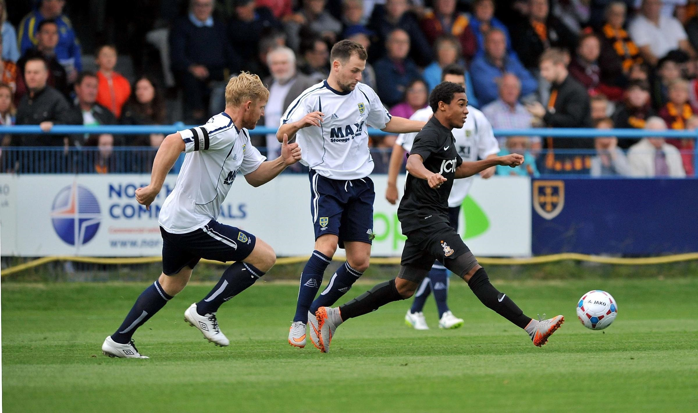FIRST IMPRESSIONS: Jon Lewis caught the eye against Guiseley but City saw little more from him