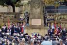Scenes from today's Remembrance event in Bradford city centre