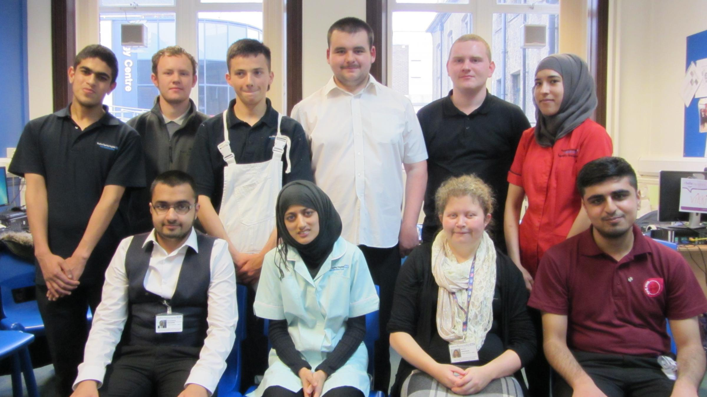 This year's Project SEARCH interns at Bradford Royal Infirmary