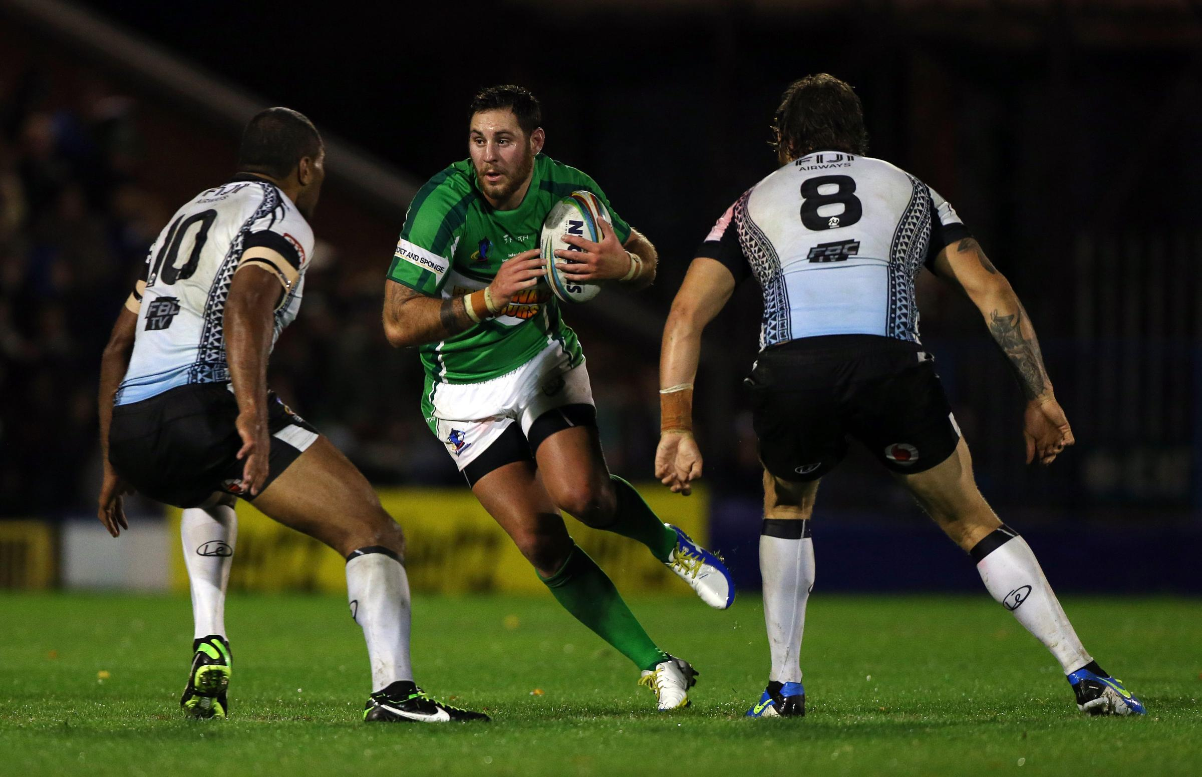 New Bulls recruit Kurt Haggerty pictured representing Ireland against Fiji during the 2013 World Cuo