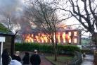 Crowds gather as Prospect Mill is engulfed in flames