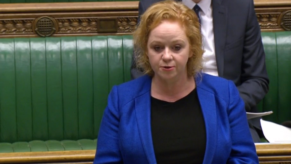 Bradford South MP Judith Cummins in the Commons
