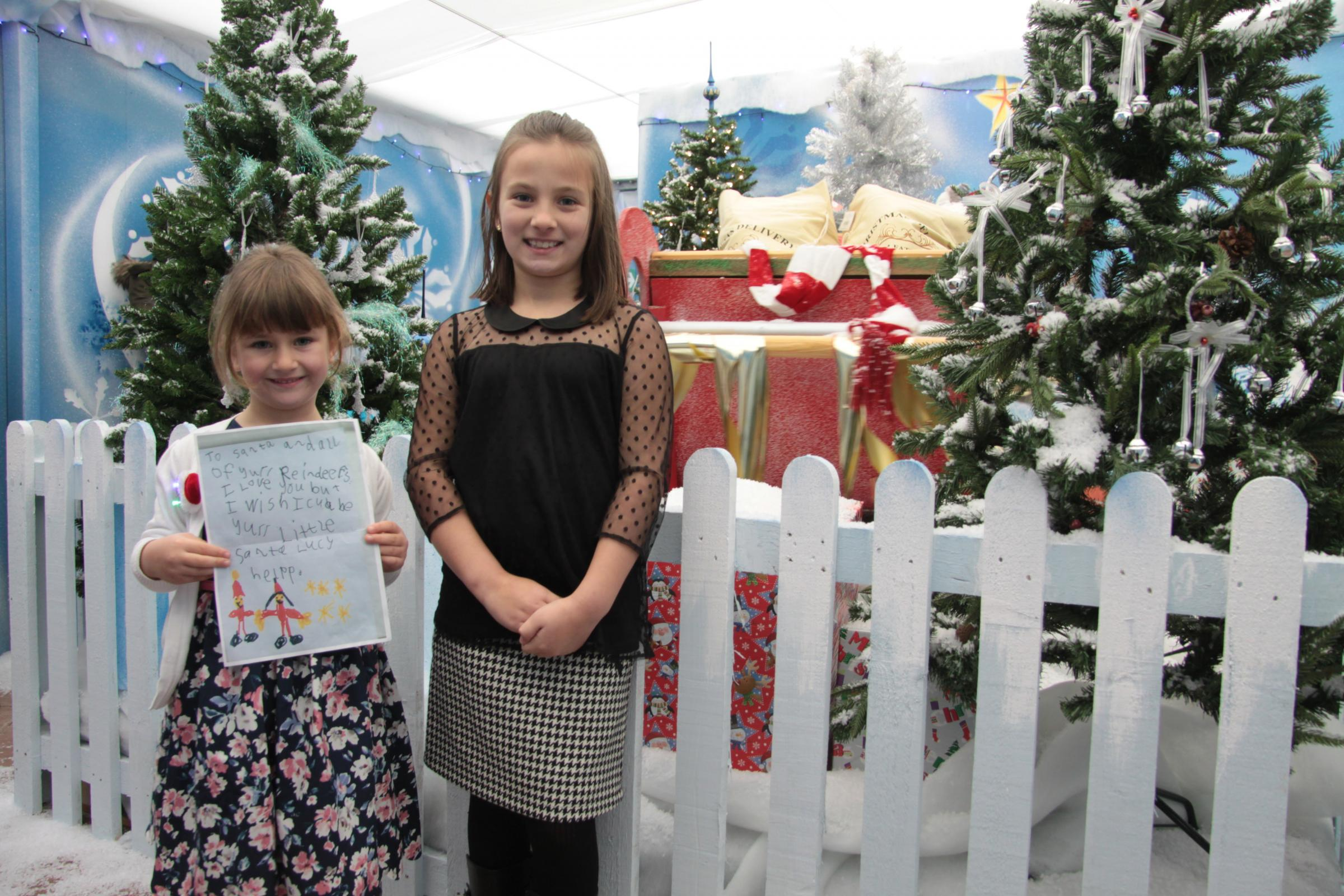 Five Year Old Has Dream Come True By Opening Santa S Grotto Bradford Telegraph And Argus