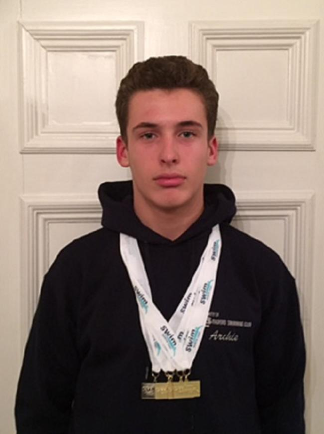 Archie Dunne was one of City of Bradford Swimming Club's gold-medal winners in the Harrogate Janus Meet at Harrogate Hydro