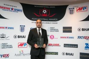 Singh 'proud and privileged' to receive Wembley prize