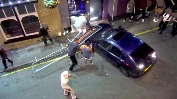 Bradford Telegraph and Argus: A CCTV image of the car driven by Istahar Ali after it rammed the nightclub in Sackville Street