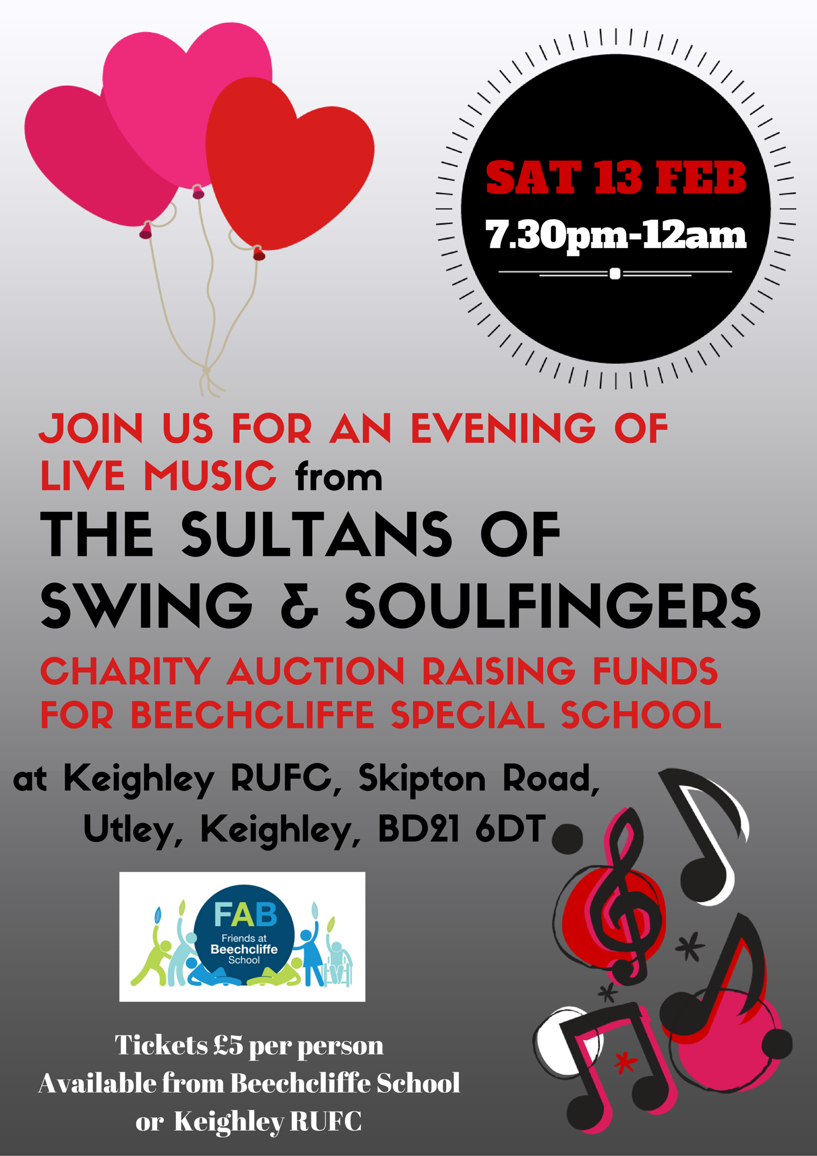 Live Music and Charity Auction Evening