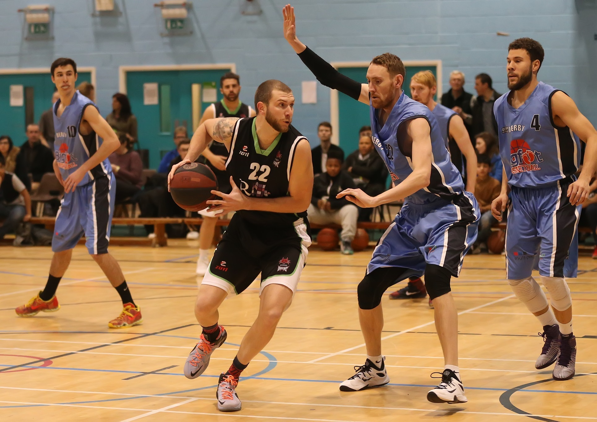 Ricky Fetske top-scored for the Dragons against Derby with 23 points