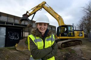 Teenager's joy after eyesore building is demolished following her long-running campaign