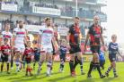 Wakefield and Bradford walk onto the pitch for the start of a match in which 'racial' chanting took place