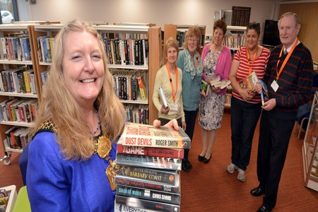Lord Mayor of Bradford, Councillor Joanne Dodds, opens the new library at the Wright Watson Enterprise Centre in Idle