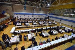 Busy preparations are under way for this year's General Election. Pictured is the Bradford count when the country last went to the polls, in 2015