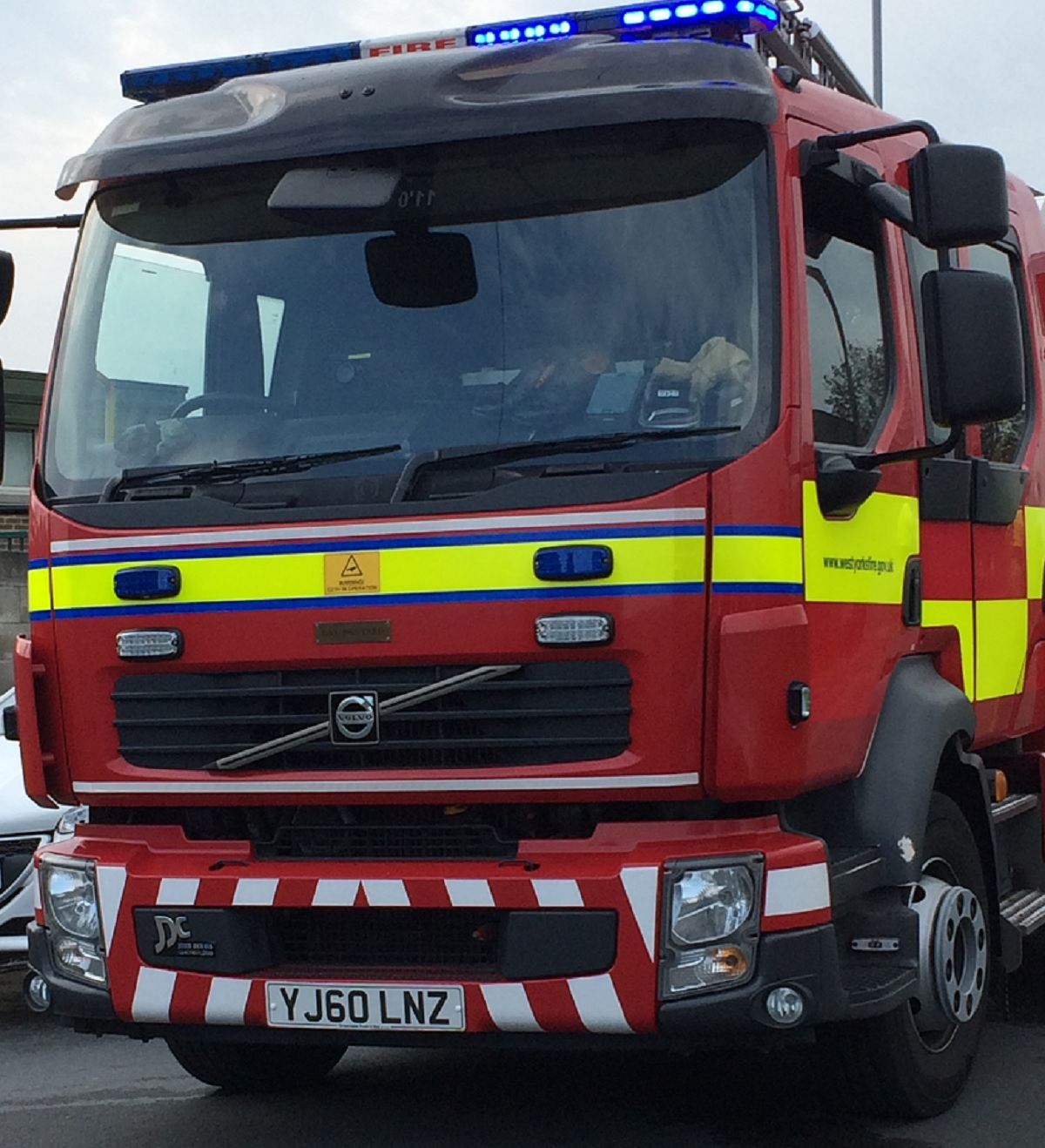 Fire crews from Keighley were called to the incident on Braithwaite Crescent