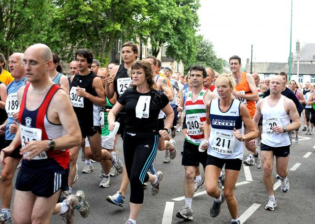 Last week's Otley 10K road race sets off from Cross Green, Otley