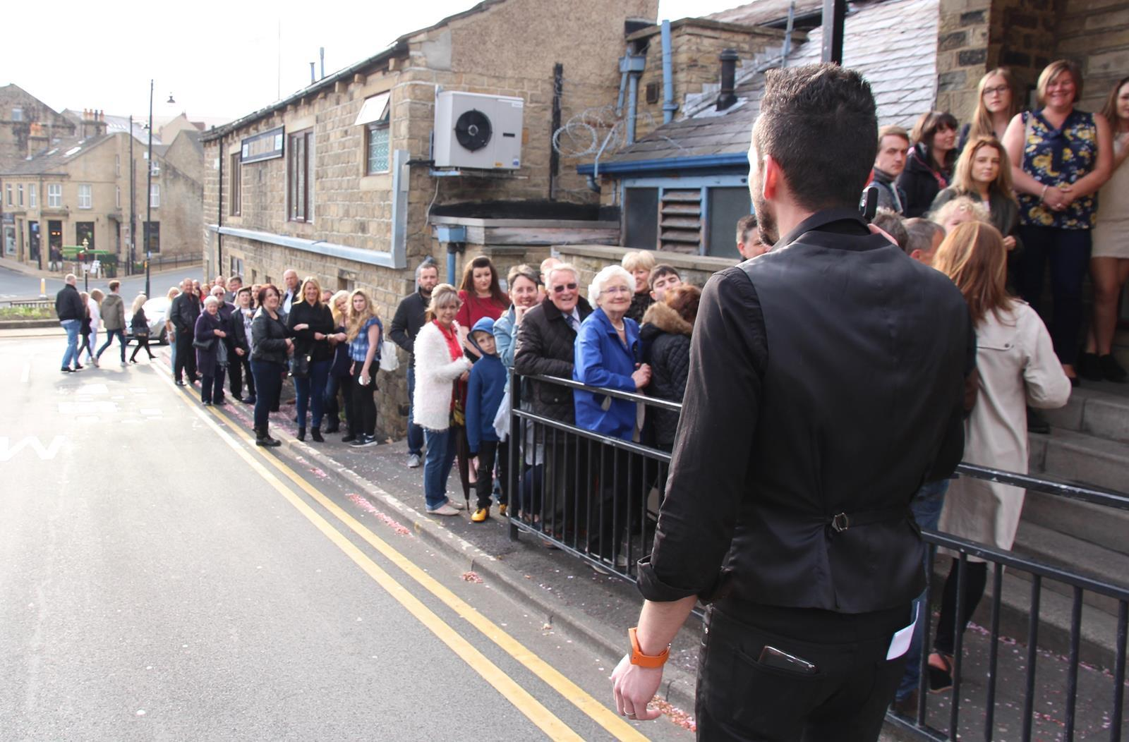 Auditionees at Baildon Club for ITV's The Voice