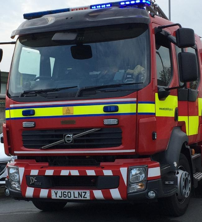 Crews deal with car fire in Hawksworth