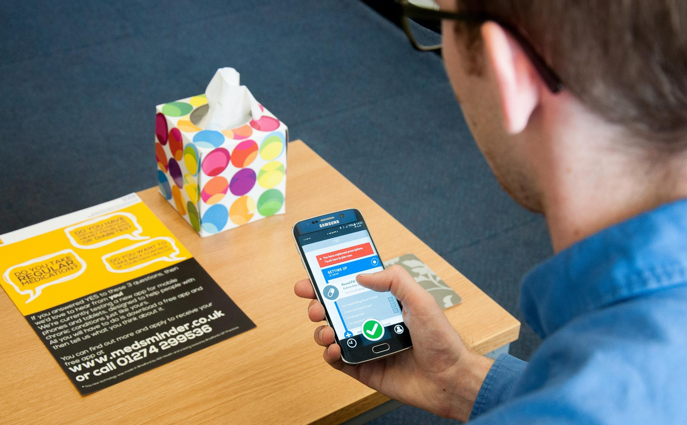 The Medsminder mobile phone app developed by the Advanced Digital Institute