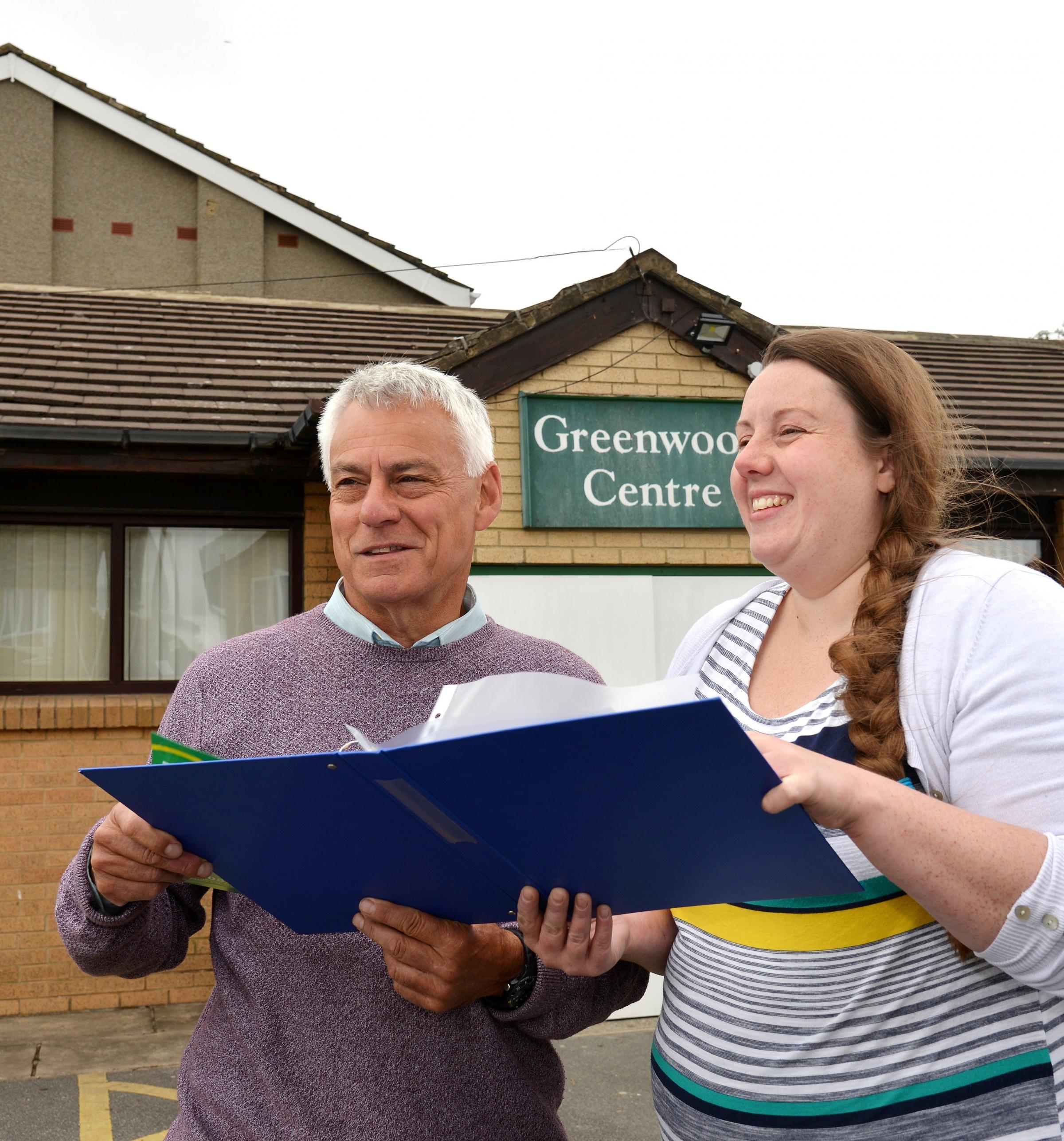 Councillors David Ward and Rachel Sunderland at the Greenwood Centre