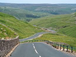 The picturesque Buttertubs Pass, located in the Yorkshire Dales