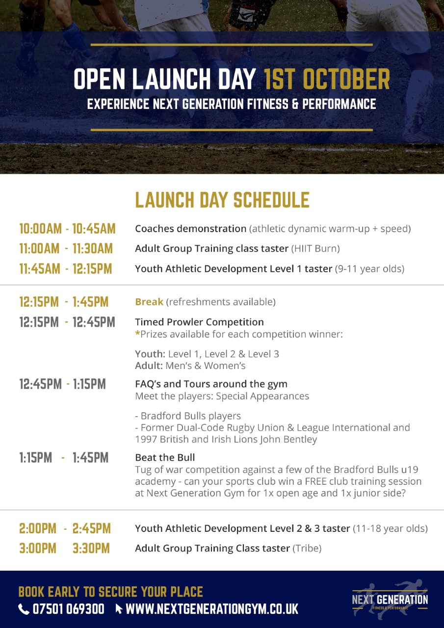 Next Generation Fitness & Performance Open Launch