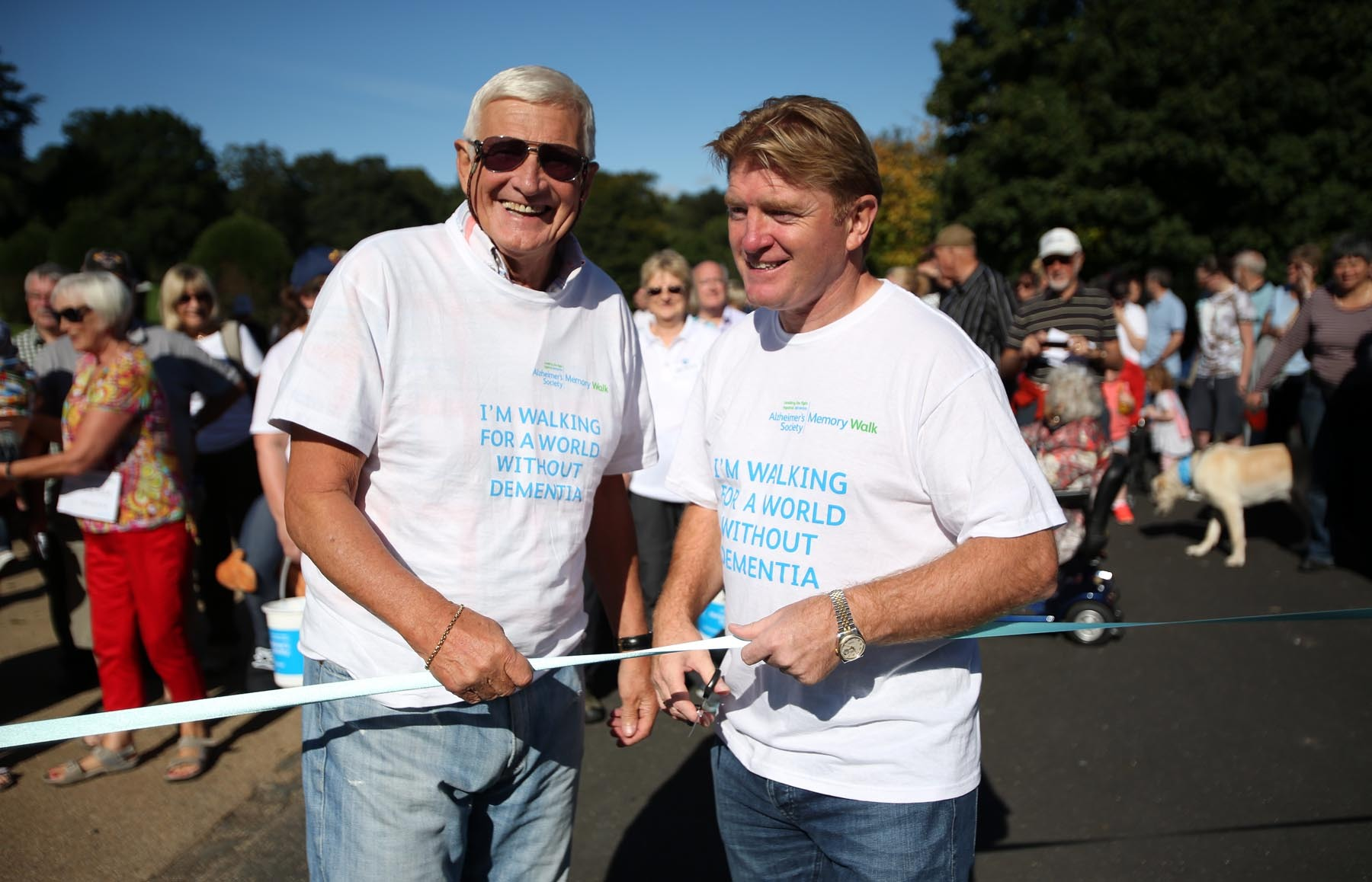 Allan Gilliver and Stuart McCall at last year's Bradford Memory Walk. Picture: Chris Booth