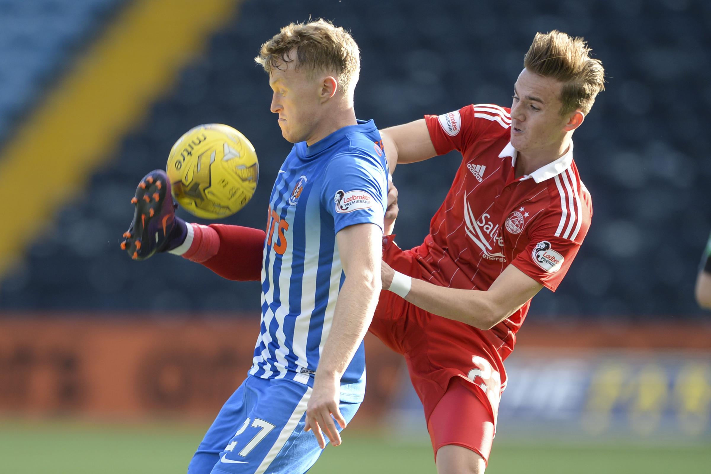 Luke Hendrie, left, has had previous loan spells with Kilmarnock, York and Hartlepool