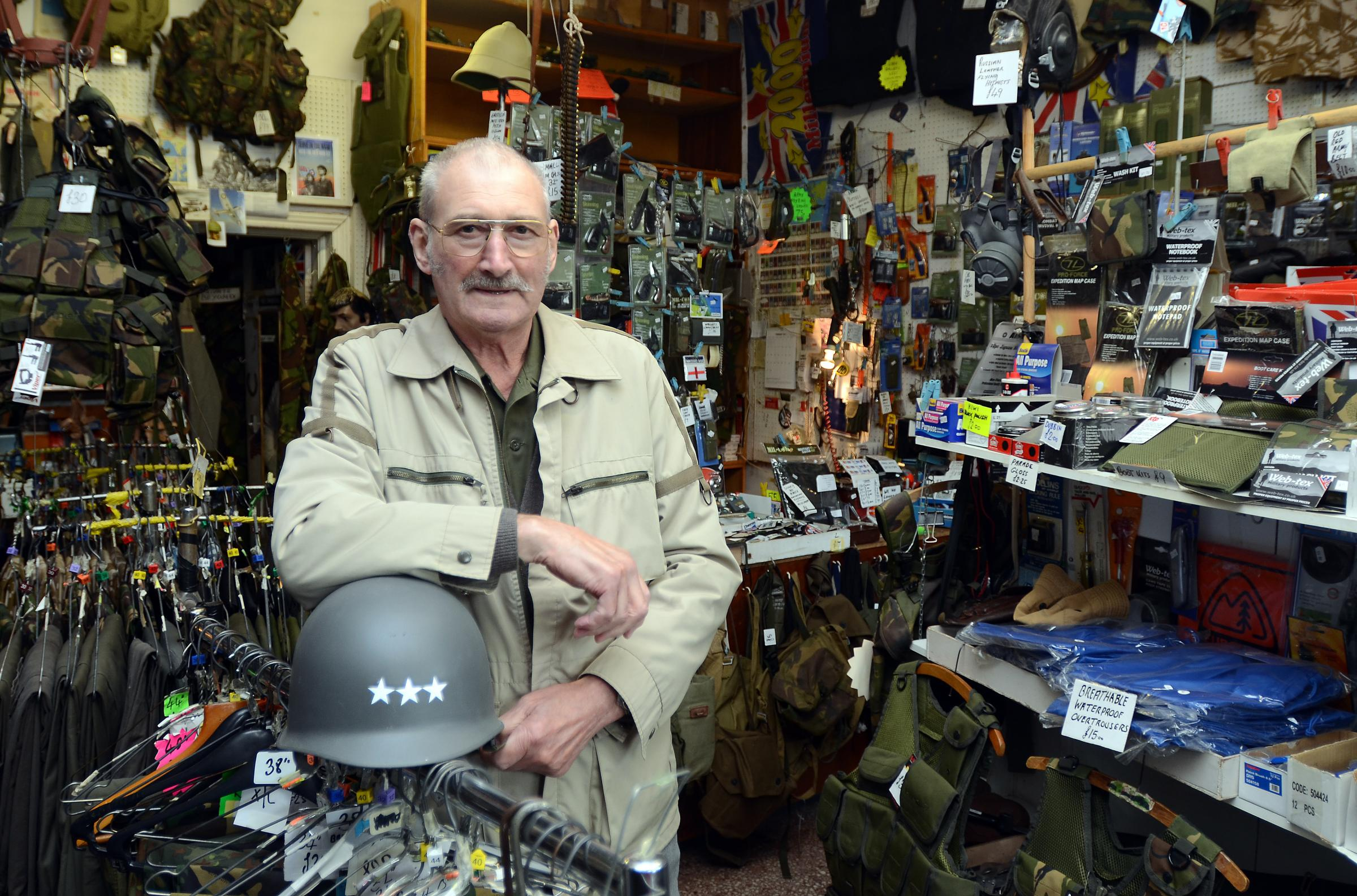 Tributes paid to army surplus store boss Charles Summerscales whose