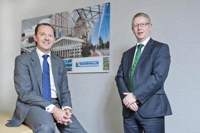 GROWTH: Stephen Bagnall with Shaun Mullins of accountants Mazars. Photo: Richard Walker