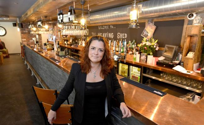 BOUNCING BACK: Erica Hall at The Weaving Shed which has reopened after serious flood damage