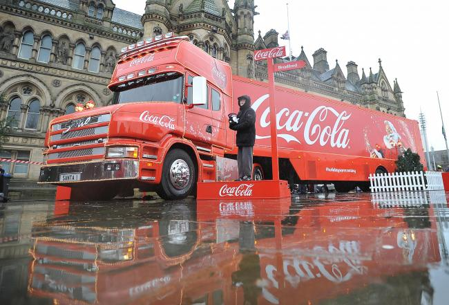 The Coca-Cola truck in happier times