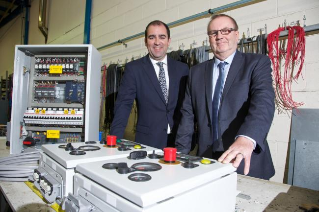 BUYOUT: Ben Kimball of Lloyds Bank and Malcolm Knapton, Southern Redfern's new owner