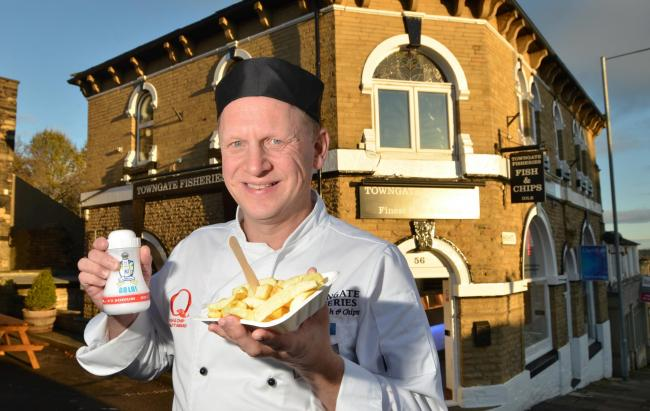 Mark Drummond, of Towngate fisheries in Idle, whose fish and chip shop is up for another award in a national competition