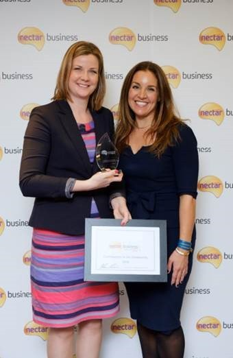 Anna Chapman, managing director of CCP, left, with Dragon's Den star Sarah Willingham at the Nectar Business Small Business Awards
