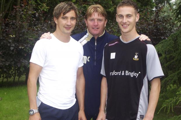 Michael and Roy Boulding with Stuart McCall in Scotland