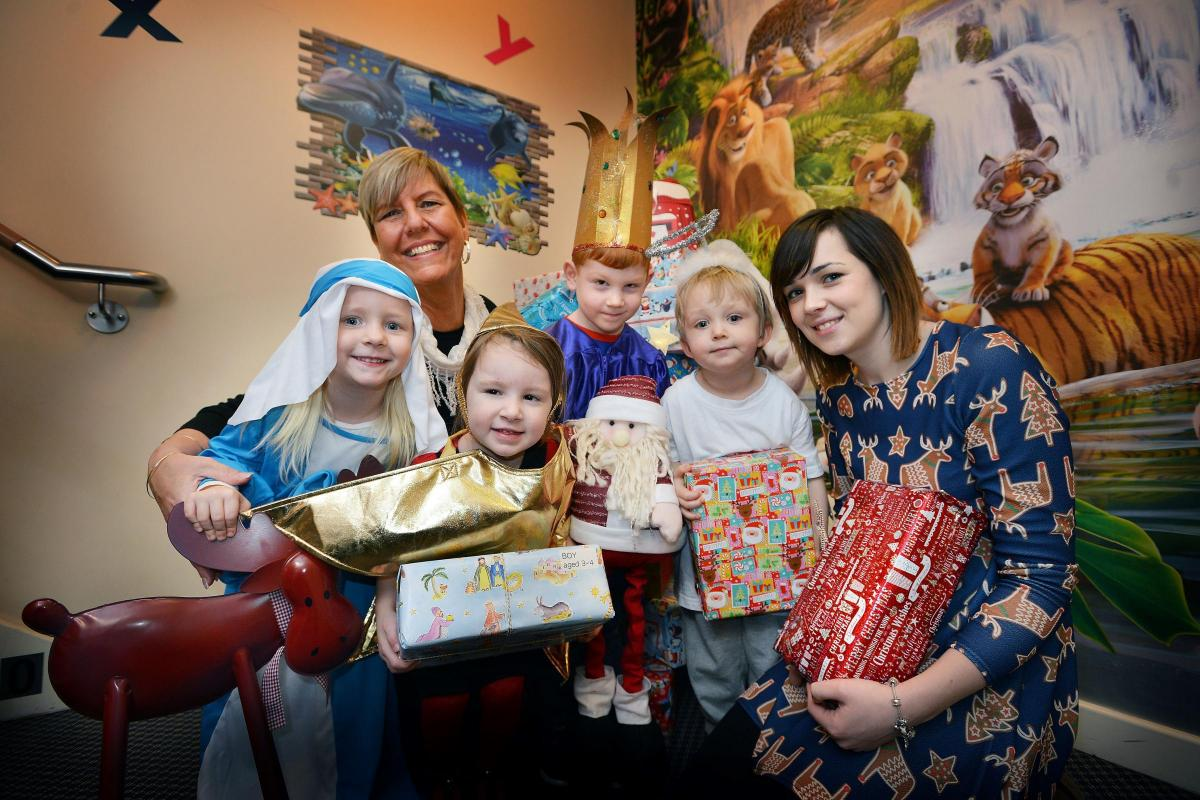 nursery holds shoebox appeal for christmas gifts for less fortunate children