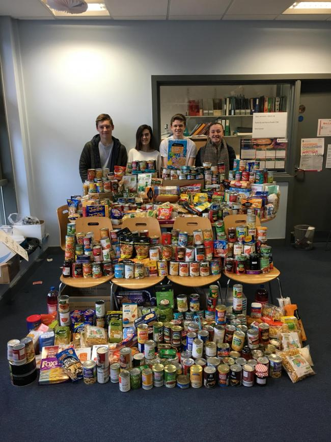Parkside Students Collect For Salvation Army Foodbank
