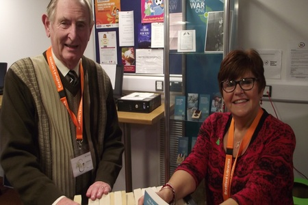 Idle community Liibrary volunteers Jim Dowzall and Janice Firth