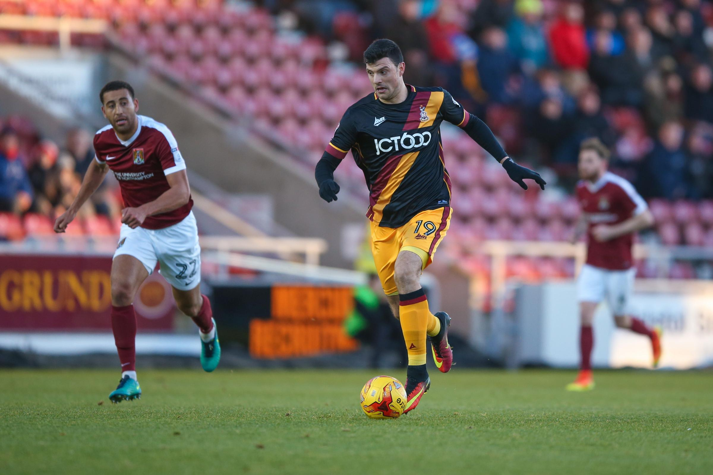 Haris Vuckic's start against Northampton was his final match for the Bantams. Picture: Simon Davies